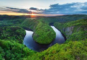 Vyhlídka Máj - river Vltava